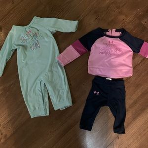 Girls 6-9 month under armour outfits EUC